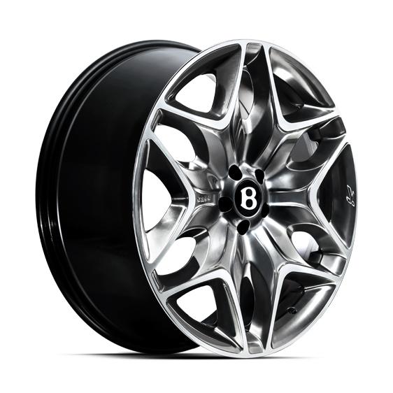 "Bentley Mulsanne 2010-On 4x 22"" Kahn 6-Split Alloy Wheels"